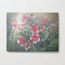 flower with hands Metal Print