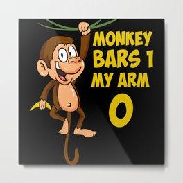 Broken Arm Monkey Bars Motif Metal Print