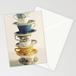 teacups Stationery Cards