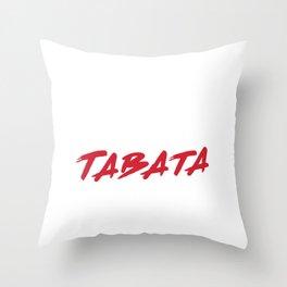 Eat Sleep Tabata Repeat l Hiit Fitness Workout Gym design Throw Pillow