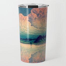 Admiring the Clouds in Kono Travel Mug