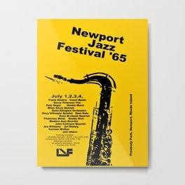 Vintage 1965 Newport, R.I Jazz Festival Advertisement Poster Metal Print