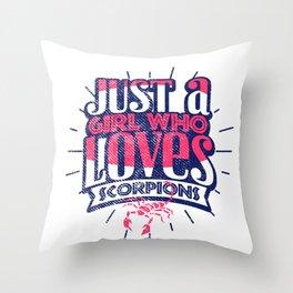 Scorpion Girl Throw Pillow