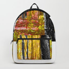Yellow Trees in Summer Backpack