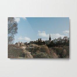 Royal Mile from Princess Street   Colourful travel photography   Edinburgh, Scotland Metal Print