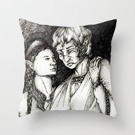 Does time grow limbs, cousin? Throw Pillow
