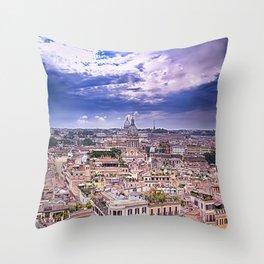 View Of Eternal City Rome Throw Pillow