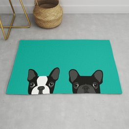Boston Terrier and French Bulldog Rug