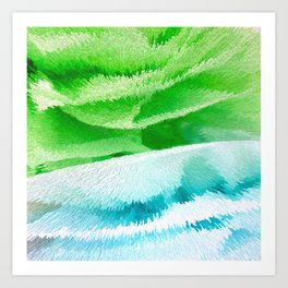 blue and green Art Print