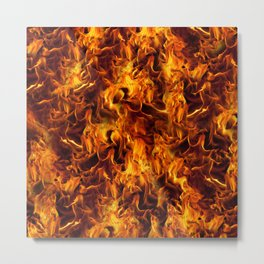 Fire and Flames Pattern Metal Print