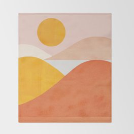 Abstraction_Mountains Throw Blanket