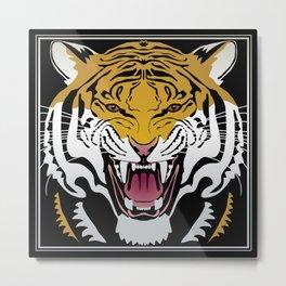 Tiger Head Metal Print