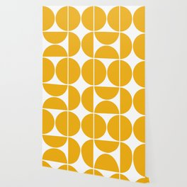 Mid Century Modern Yellow Square Wallpaper