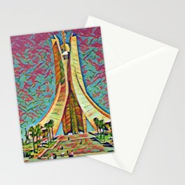 Algeria Martyrs' Memorial Artistic Illustration Mixed Colors Style Stationery Cards