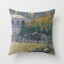 Bryant Park (West 41 Street) Alone Throw Pillow