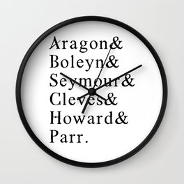 Six Wives of Henry VIII 8th - Funny English History Teacher Wall Clock