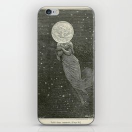 Antique Moon Woman iPhone Skin
