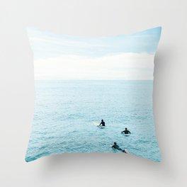 Flat Ocean Throw Pillow