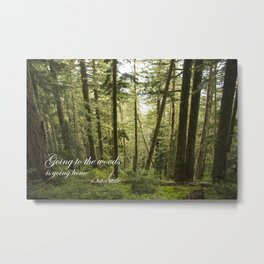 Going to the Woods Metal Print