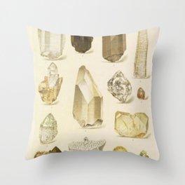 Quartz Crystals Throw Pillow