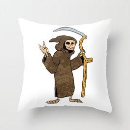 cartoon grim reaper. Throw Pillow