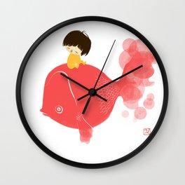 The Gold Fish Wall Clock