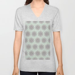 Mandalas in Green Water Unisex V-Neck