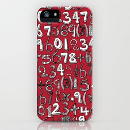 math doodle red iPhone Case