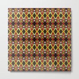 Sharp Pattern Metal Print