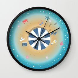 Isolated Island of Happiness Wall Clock