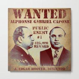 Al Capone FBI Wanted Poster Metal Print