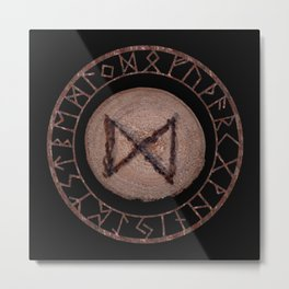 Dagaz - Elder Futhark rune Metal Print