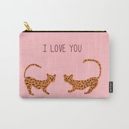 I love you cute tiger cubs  Carry-All Pouch