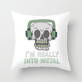 Braces Funny metal mouth sexy tooth dentist brace 2 Throw Pillow