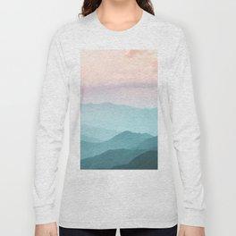 Smoky Mountain National Park Sunset Layers II - Nature Photography Long Sleeve T-shirt