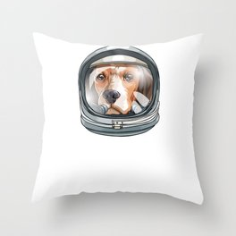 I Need More Space Astronaut Beagle Outserspace Science Geek Throw Pillow