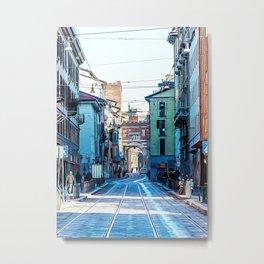 Street in the center of Milan Metal Print