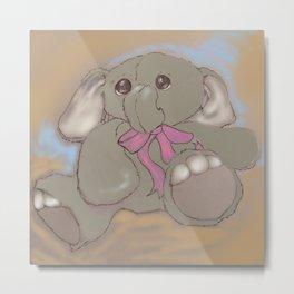 Stuffed Elephant Metal Print