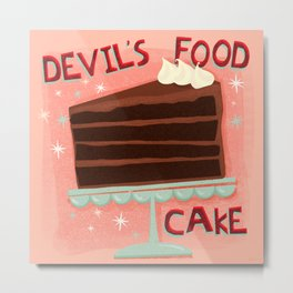 Devil's Food Cake An All American Classic Dessert Metal Print
