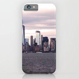 New York City skyline at sunset iPhone Case