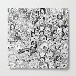 Ahegao Face Metal Print