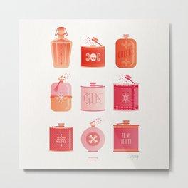 Flask Collection – Pink/Peach Ombré Palette Metal Print