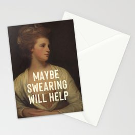 Maybe Swearing Will Help Stationery Cards