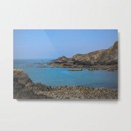 Devon Coastline. Metal Print