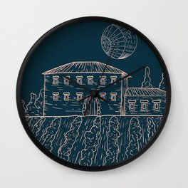 Italian Vintage Night - Countryside Landscape Wall Clock
