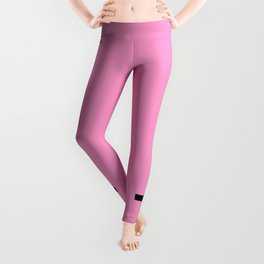 Inverted Cross on Pink Leggings