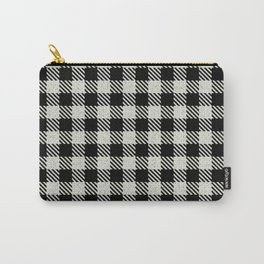Papaya Whip  Bison Plaid Carry-All Pouch