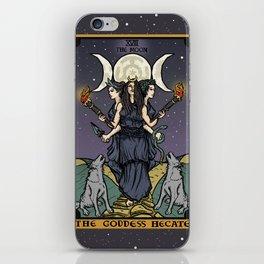 The Godddess Hecate In Tarot Card iPhone Skin