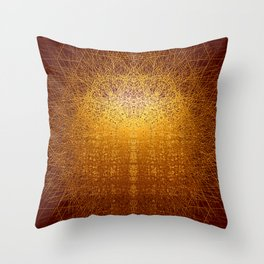 Sunrise in Shangri-La - Abstract Metal Painting Throw Pillow