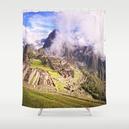 Machu Picchu Incas Lost City Shower Curtain